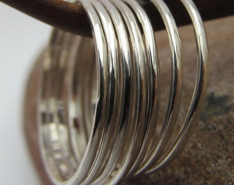 Single Sterling Silver Stacker Ring