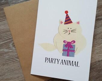 Happy Birthday Card, Funny Birthday Card, Pun Birthday Card, Pun Card, Funny Birthday Card Girlfriend, Cat Card, Card for Friend, Cute Card