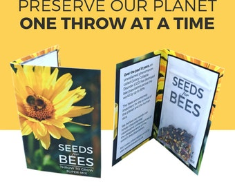 Seeds For Bees: 1x Bee Friendly 'Throw to Grow' Super-Mix. As funded on Kickstarter