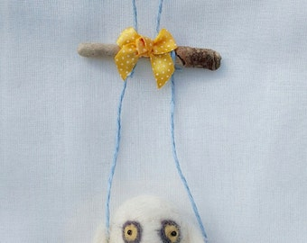 Needle Felted Little Owl  Mobile