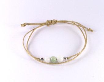 Sweet camel brown candle rope bracelet