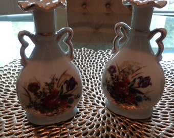 Delicate Hand Painted Vases