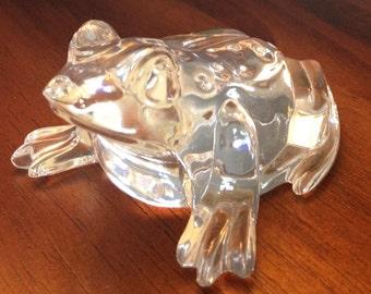 Waterford Crystal Frog