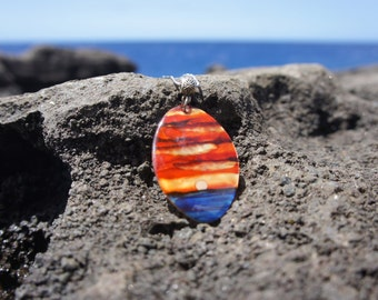 Oval Hawaiian Sunset Necklace