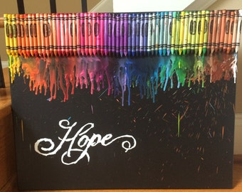 Hope-Family-Faith Crayon Art Series