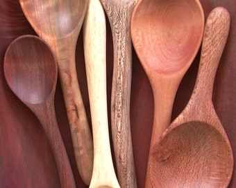 six mix species spoons