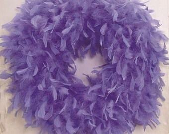 Quality Lavender Feather Wreath