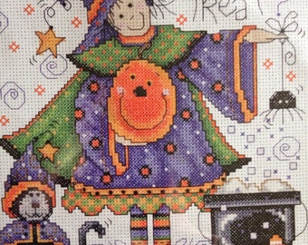 Trick or Treat Witch counted cross stitch kit from Design Works sealed