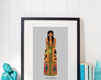 The Mini Mindy Project - individual illustration