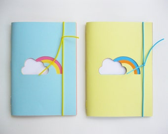 SET 2 NOTEBOOKS Rainbow theme