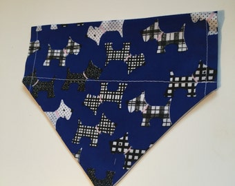 Handmade Royal Blue Pet Bandana - Small