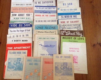 Lot of 35 vintage sheet music 40's 50's 60's