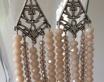 Diamond chandelier earrings