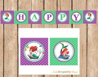Ariel Happy Birthday Banner