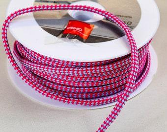 Cord 5mm pink/grey