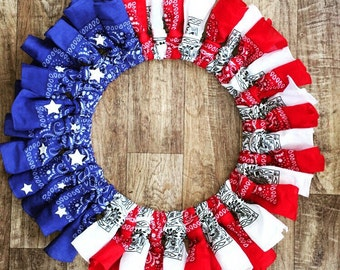 Red white and blue wreath!