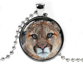 Cougar Necklace Cougar Pendant Animals Cougar Jewelry