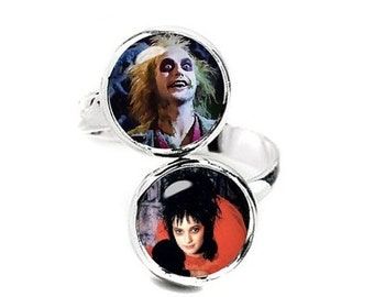 Lydia Deetz Beetlejuice Double Ring Adjustable ring Geeky Jewelry Fanboy Fangirl