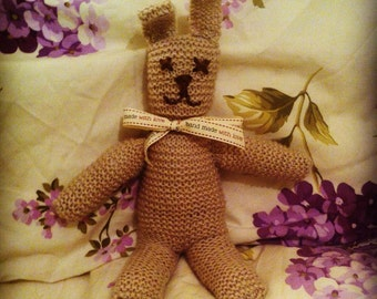 Hand Knitted Bunny Knitted Soft Toy