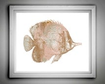 Fish Print,Waterclor Fish Print,Watercolor Art,Scandinavian Home Art,Home Art,Nursry Wall Decor, Instant Download,Home Decor