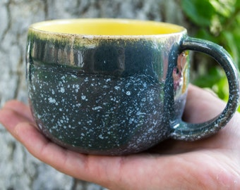 Cup of blue and yellow