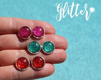 Glitter Glam Earrings