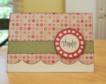 Thank You Card - Embossed Thank You Card - Blank Inside