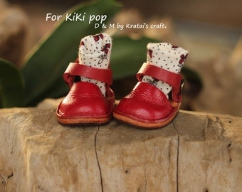 Mary Jane shoes for Kikipop Color RED