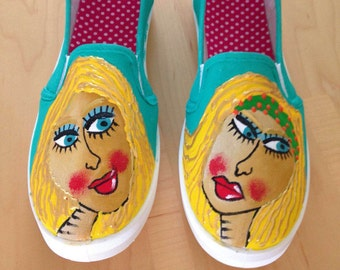 Hand Painted shoes - Sherryl
