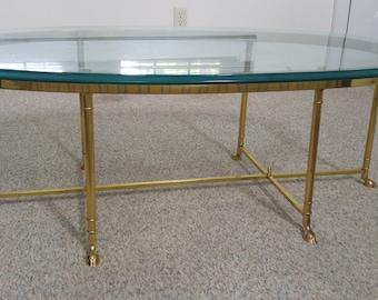 Antique La Barge 3/4 Inch Ogee Beveled Glass U0026 Metal (Polished Brass)