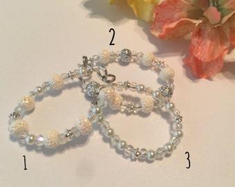 Baby blessing/baptism bracelet