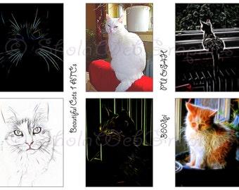 Beautiful Cats 1 ATC Cards (PU,S4H) Scrapbook