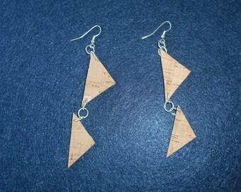 Earrings horse mackerel