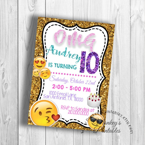image about Printable Emoji Birthday Invitations named OMG!! Emoji Birthday Occasion Designs for the Simplest Birthday Bash