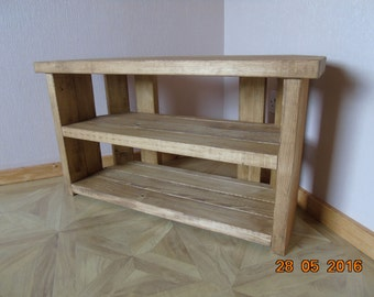 Handmade Retro Style Wooden TV Stand - Many Colours and Sizes!