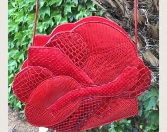 Carlos Falchi vintage red purse