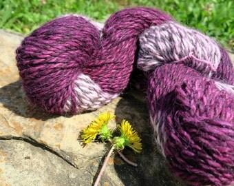 Purple Gradient Yarn // 100% Super Fine Alpaca // 215 yards