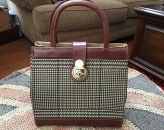 Ralph Lauren Vintage Houndstooth Handbag