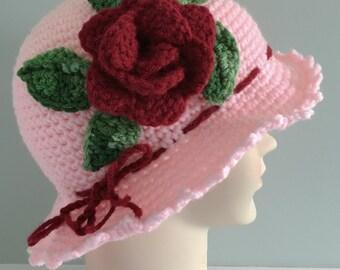 Girl hat w/ rose