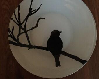 Silhouette dinner plate