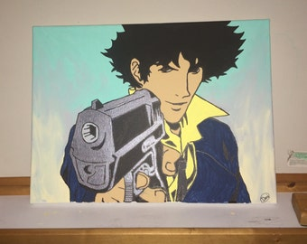 painting of my version of Spike from Cowboy Bebop