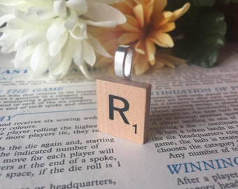 Up-cycled Scrabble Tile Pendant Silver Plated With Gift Bag