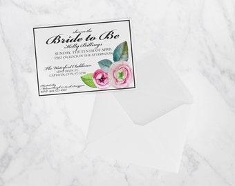 Floral Rosette Invite