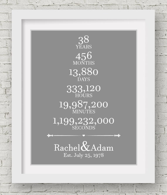 35 Wedding Anniversary Gifts For Parents: 38th Wedding Anniversary Gift For Parents 38 Year By
