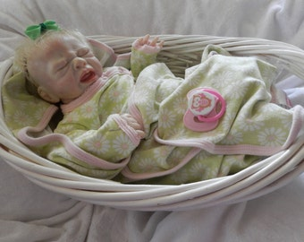 Premie Reborn Baby. Reborn Baby Girl, Fake Baby, Discontinued Taite by Melissa George, Lifelike Baby Girl, Very Realistic Baby, Hand Painted