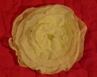 Handcrafted flower barrette