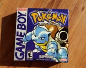 Pokemon Blue nintendo Gameboy Gameboy box only no game no manual featured image