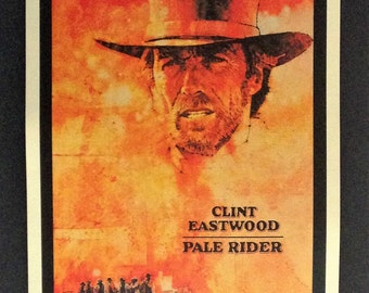 "Pale Rider Movie Poster 12""x18"" Reproduction // Clint Eastwood // Western // Cowboy // 1985 // Death Rides A Pale Horse // Revelations 6:8"