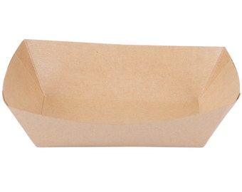 Eco-friendly, Grease proof, Kraft Food Tray Case recycled