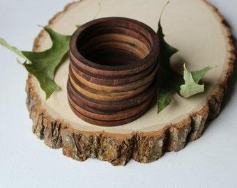FREE SHIPPING Wood bangle, thin bangle, natural bracelet